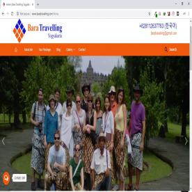 Website Tour and Travel Bara Travelling | Jasa Pembuatan Website Tour & Travel Yogyakarta